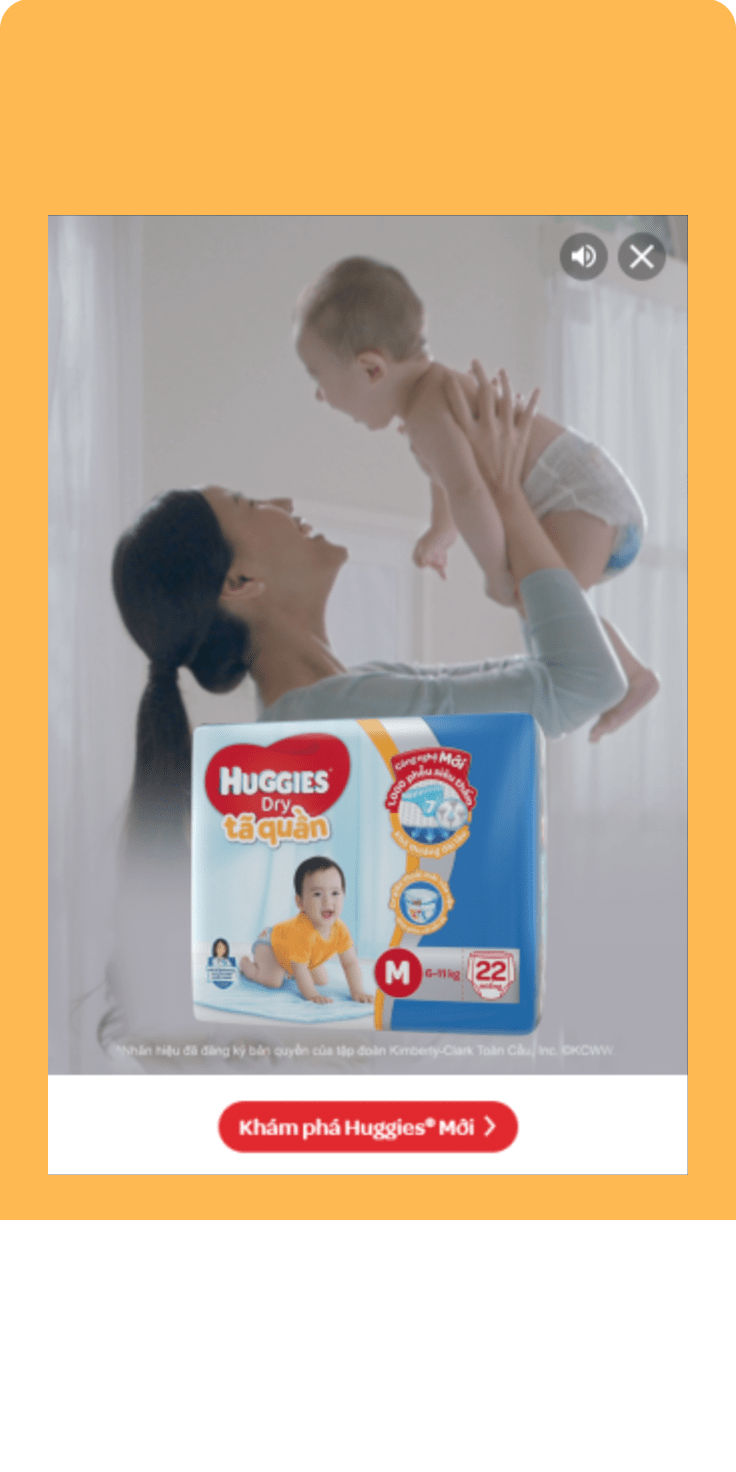 Huggies Vertical Video Campaign – AdsDax
